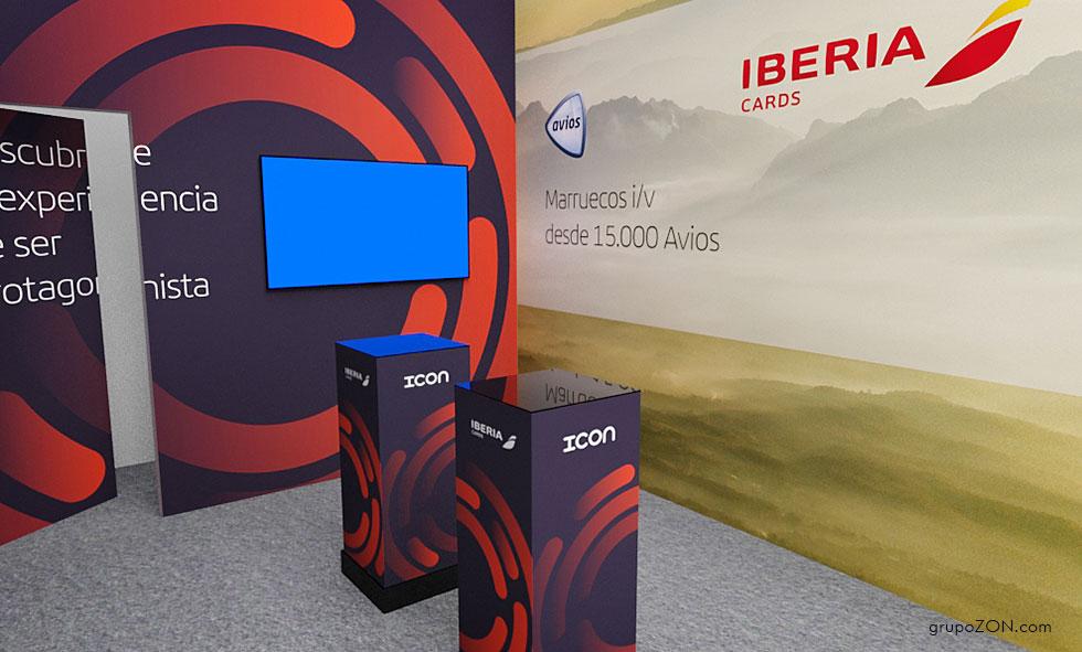 Fabricante del Stand IBERIA CARDS FITUR 2018