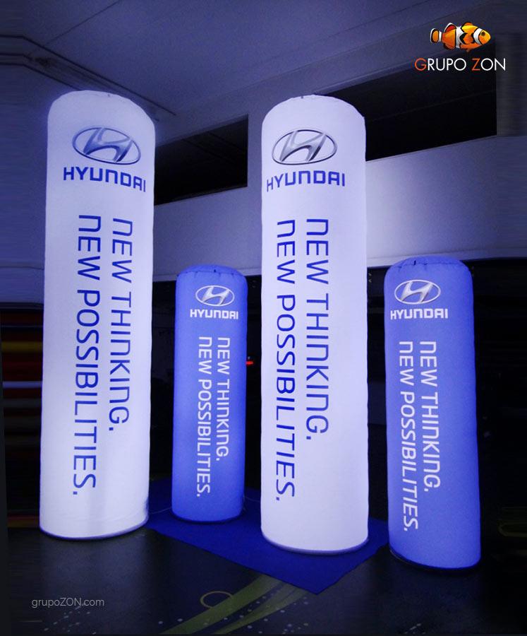 Totems Luminosos Hyundai